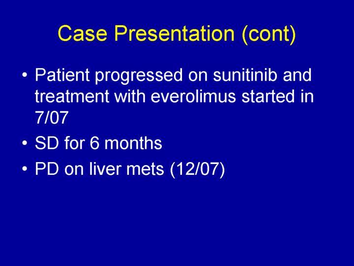 Case Presentation (cont)