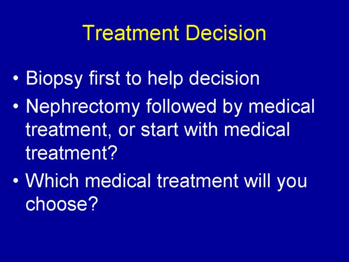 Treatment Decision