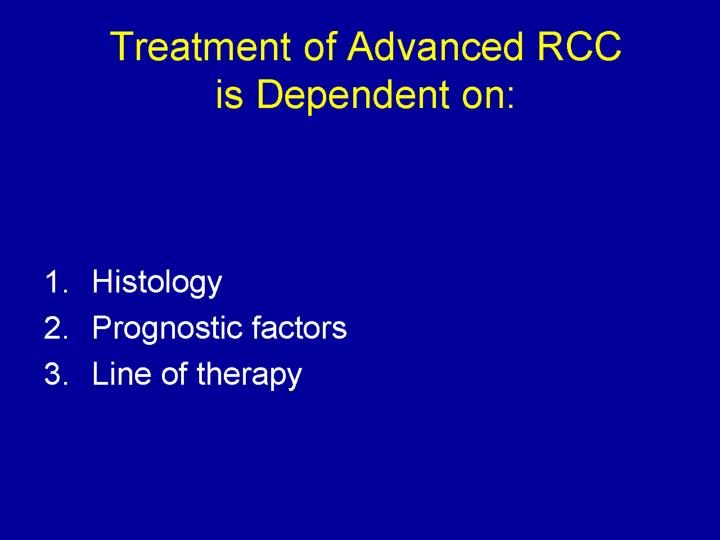 Treatment of Advanced RCC