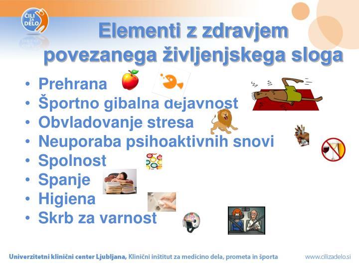 Elementi z zdravjem
