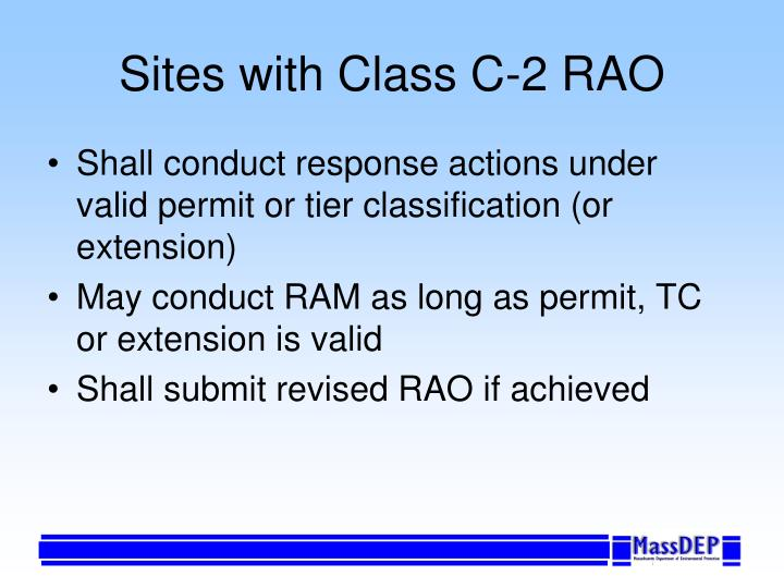 Sites with Class C-2 RAO