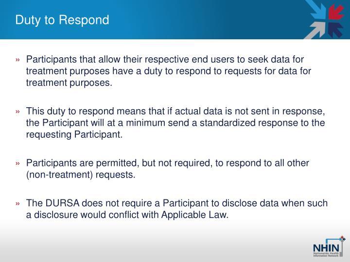 Duty to Respond
