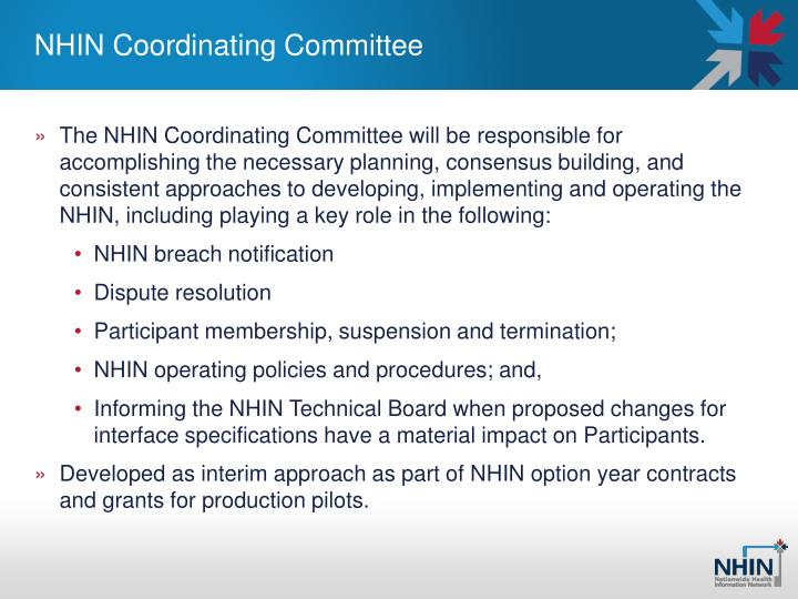 NHIN Coordinating Committee