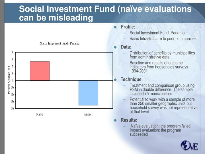 Social Investment Fund (naïve evaluations can be misleading