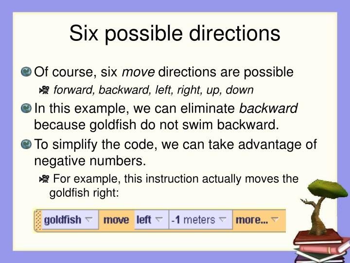Six possible directions