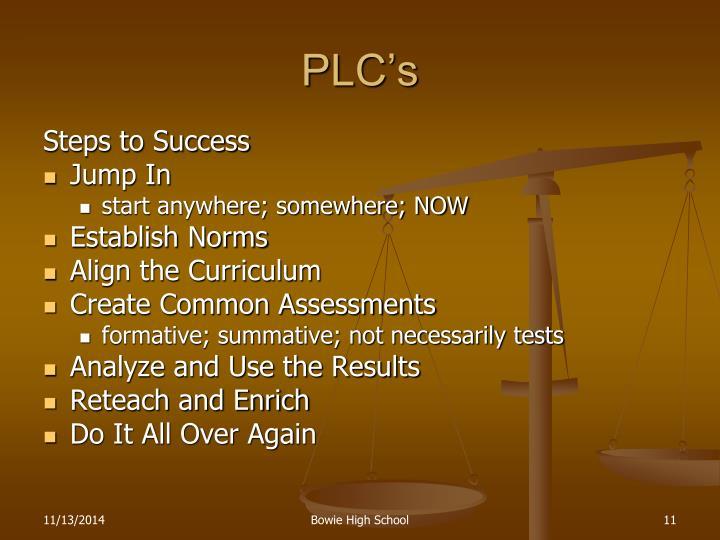 PLC's