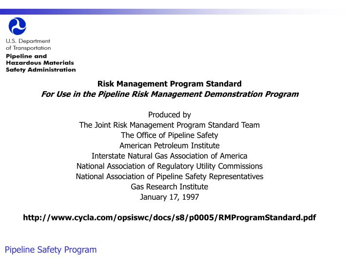 Risk Management Program Standard