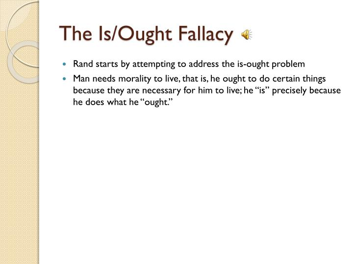 The Is/Ought Fallacy