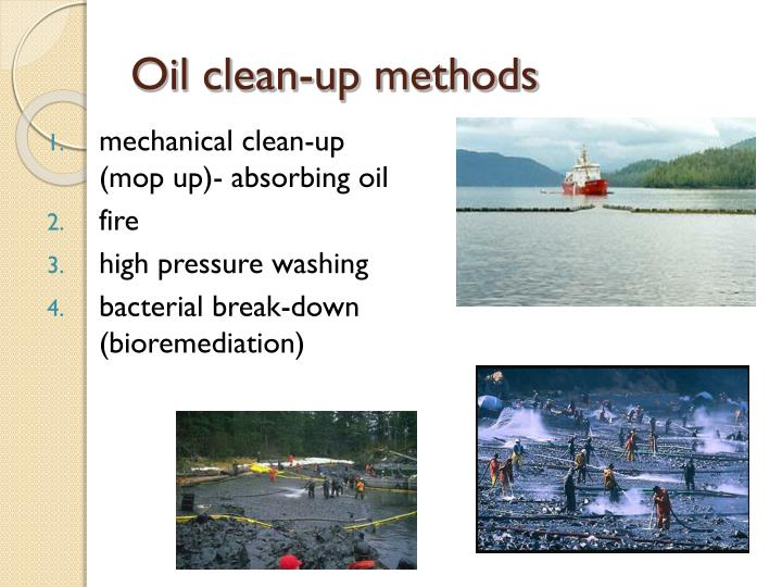 Oil clean-up methods