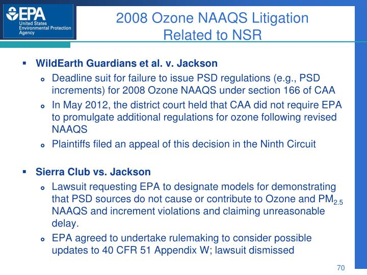 2008 Ozone NAAQS Litigation