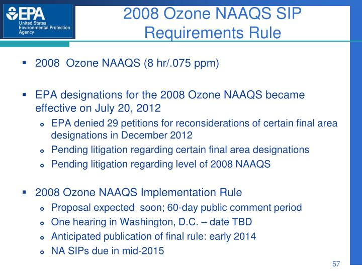 2008 Ozone NAAQS SIP Requirements Rule