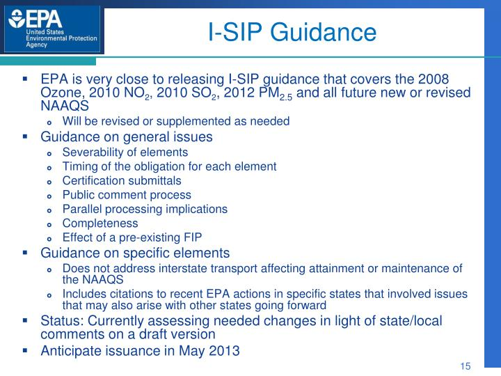 I-SIP Guidance