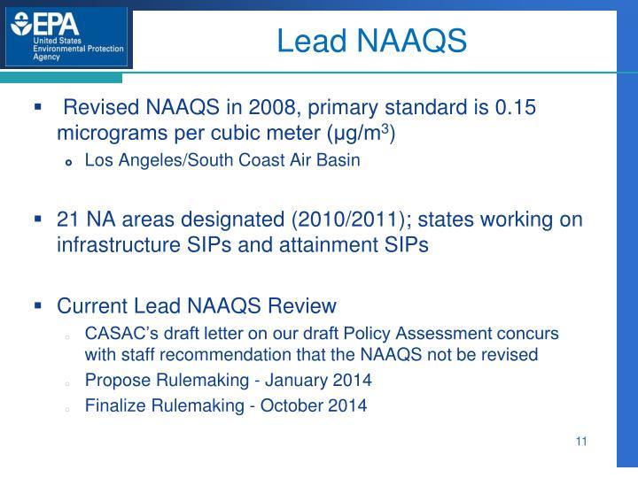 Lead NAAQS