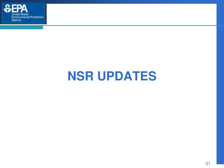 NSR Updates