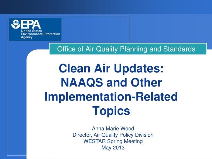 Office of air quality planning and standards