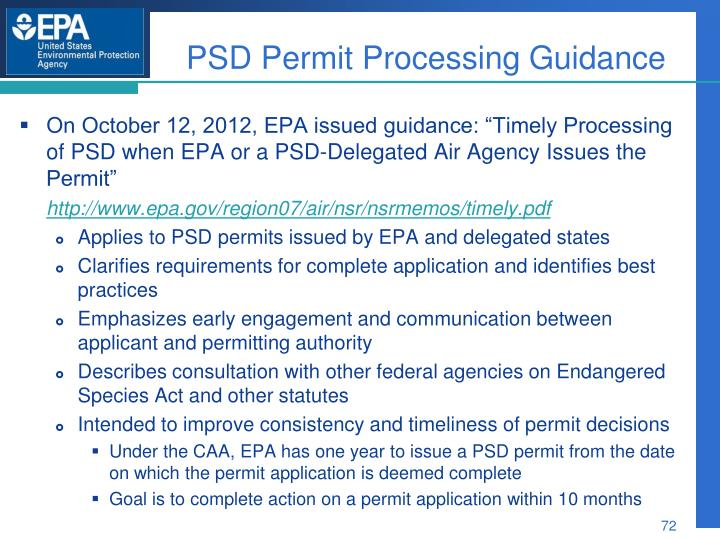 PSD Permit Processing Guidance