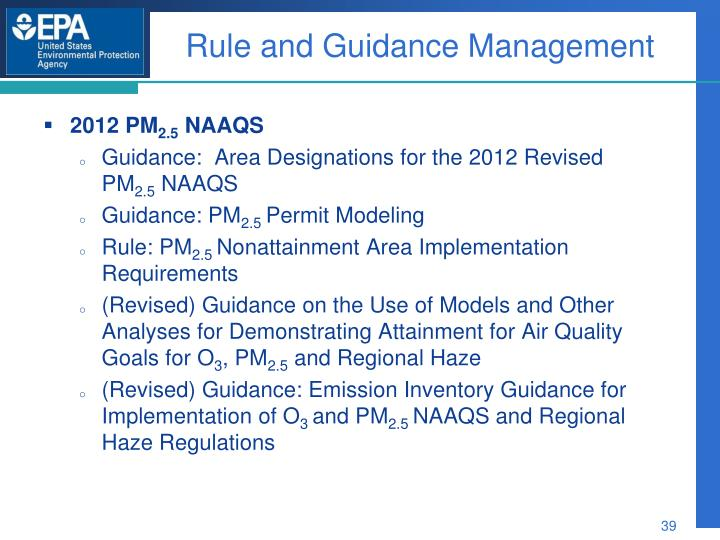 Rule and Guidance Management