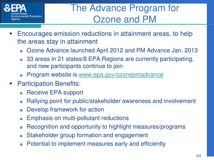 The Advance Program for