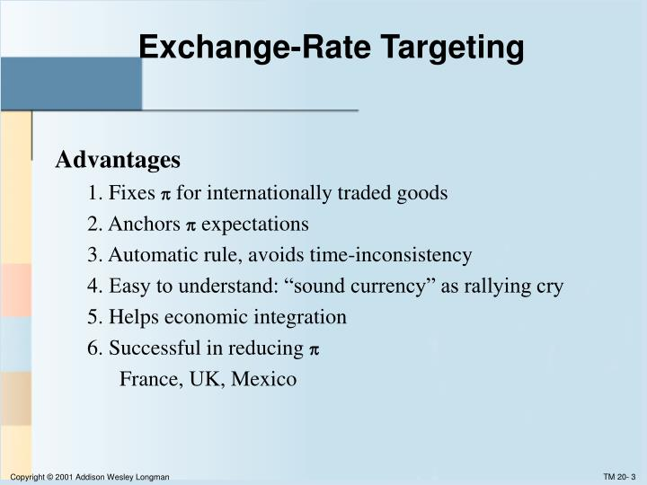 Exchange rate targeting
