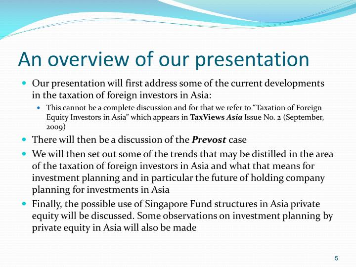 An overview of our presentation