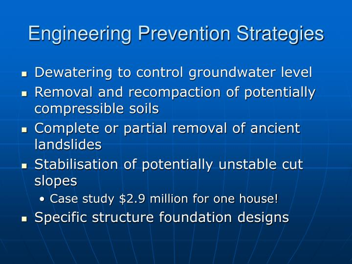 Engineering Prevention Strategies