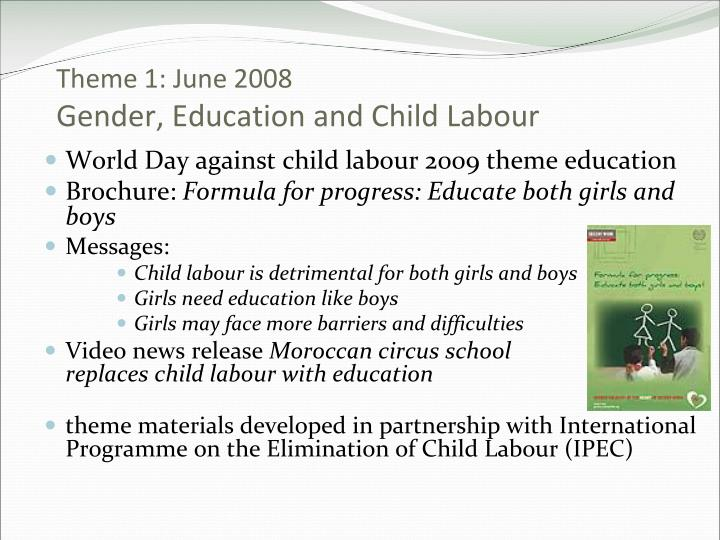 eliminating child labor in the export Can developing countries afford to ban or that acted to eliminate child labor countries whose exports are based on child labor cannot afford.