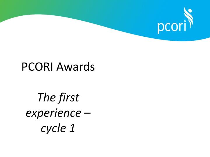 PCORI Awards