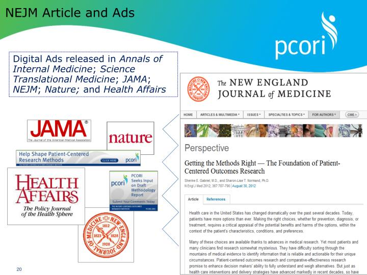 NEJM Article and Ads