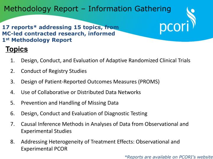 Methodology Report – Information Gathering