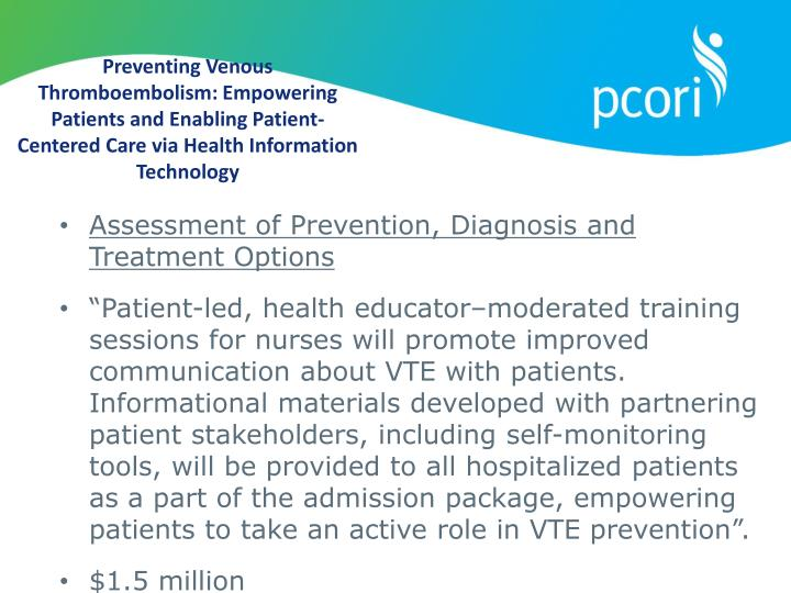 Preventing Venous Thromboembolism: Empowering Patients and Enabling Patient-Centered Care via Health Information Technology