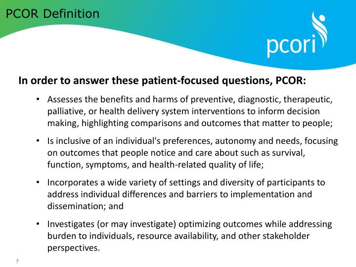 PCOR Definition