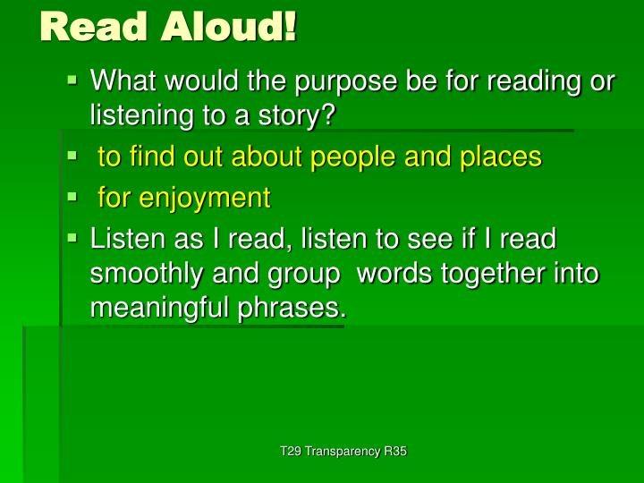 Read aloud