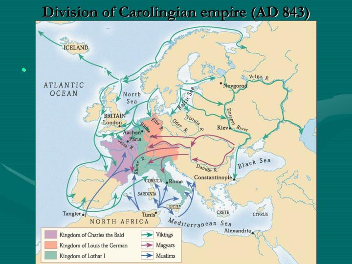 Division of Carolingian empire (AD 843)