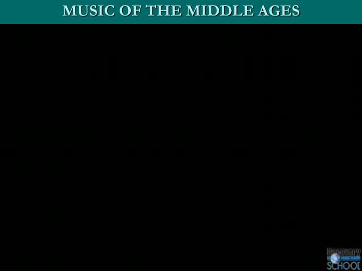 MUSIC OF THE MIDDLE AGES