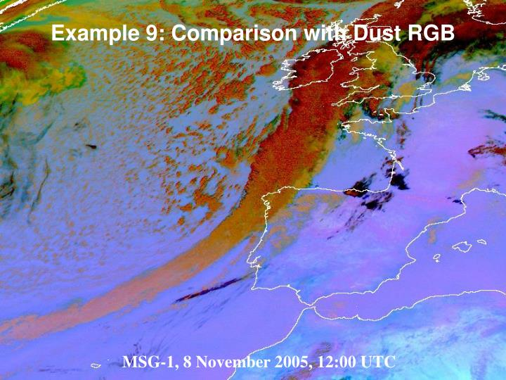 Example 9: Comparison with Dust RGB