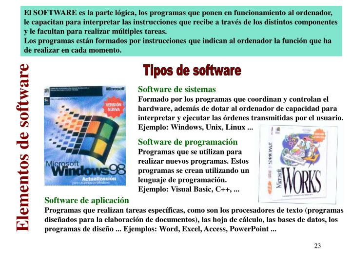 Elementos de software