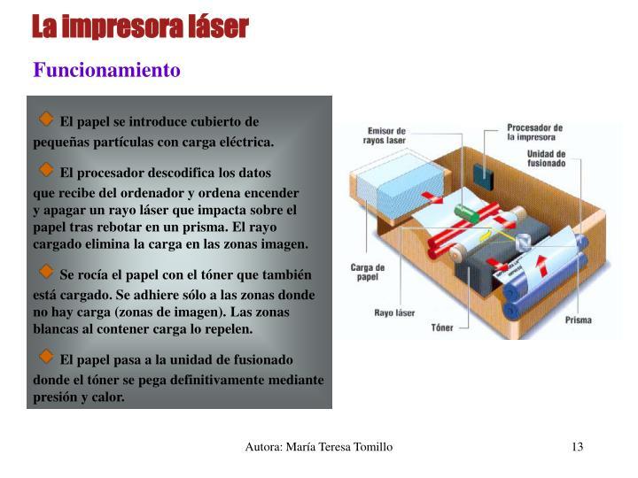 La impresora láser