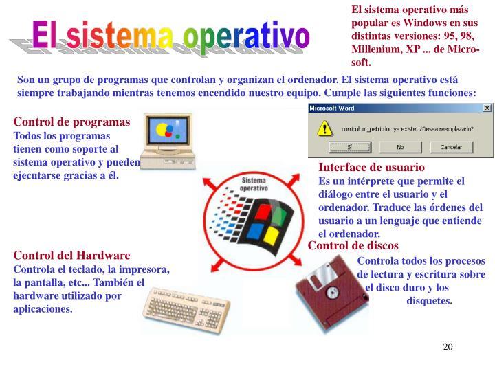 El sistema operativo más
