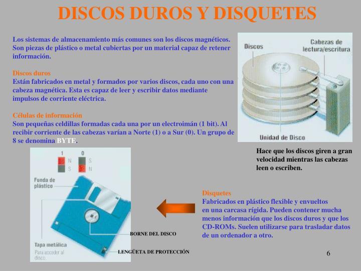 DISCOS DUROS Y DISQUETES