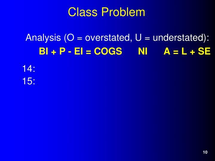 Analysis (O = overstated, U = understated):