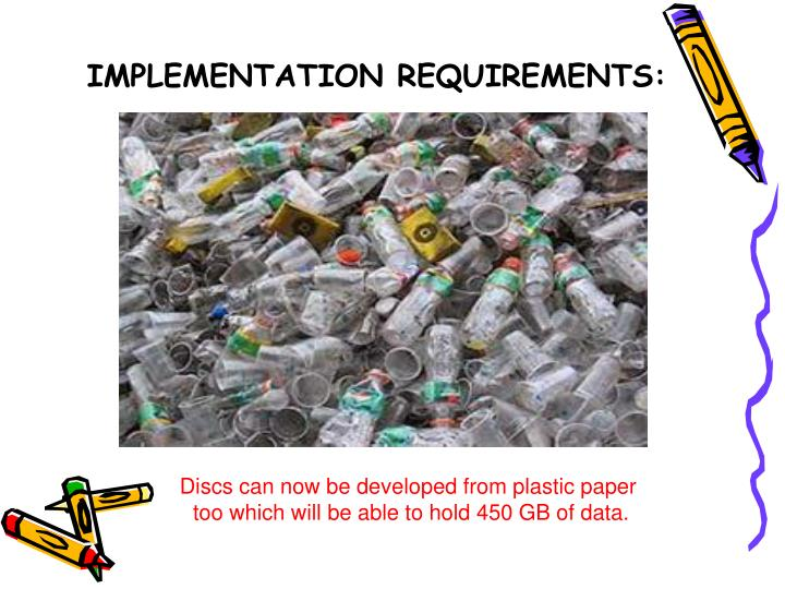 IMPLEMENTATION REQUIREMENTS: