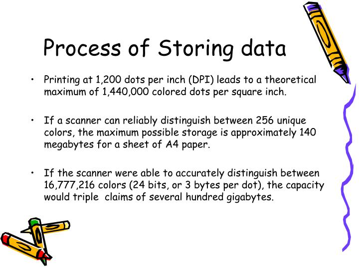Process of Storing data
