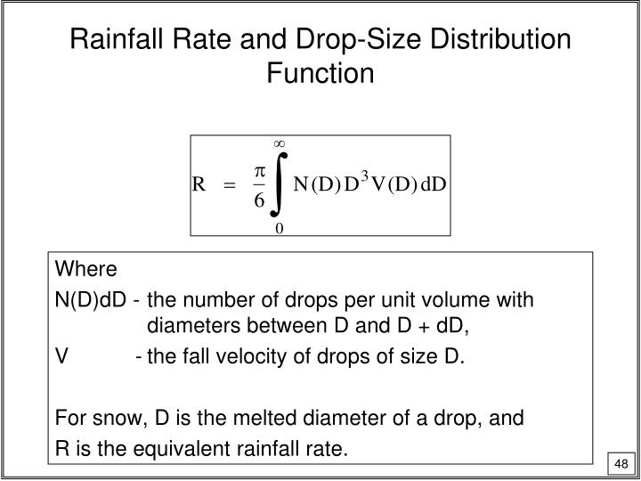 Rainfall Rate and Drop-Size Distribution Function