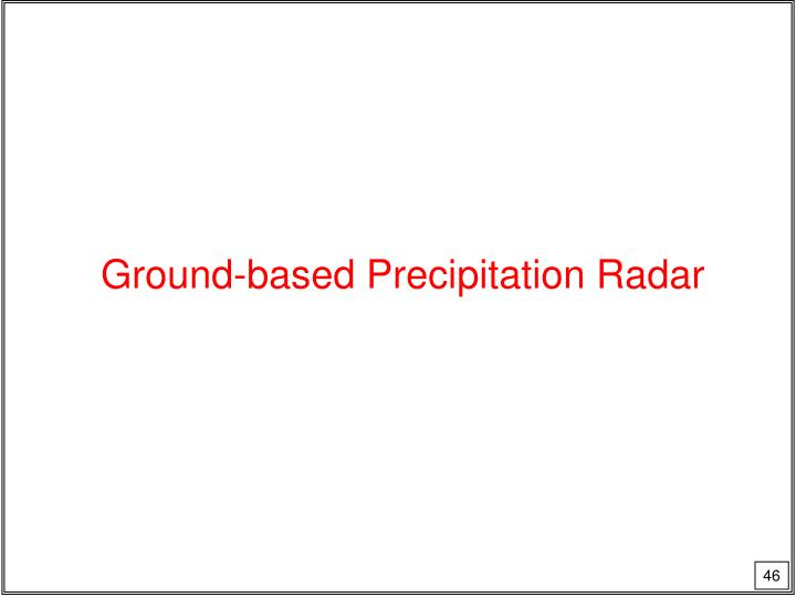 Ground-based Precipitation Radar