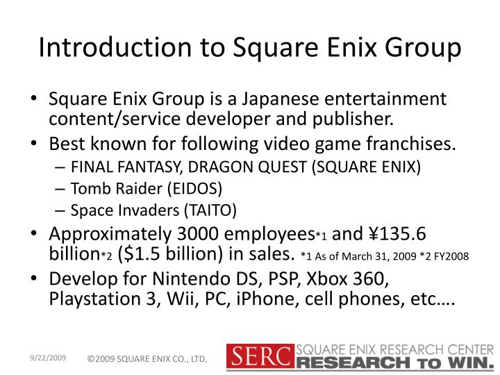 Introduction to square enix group