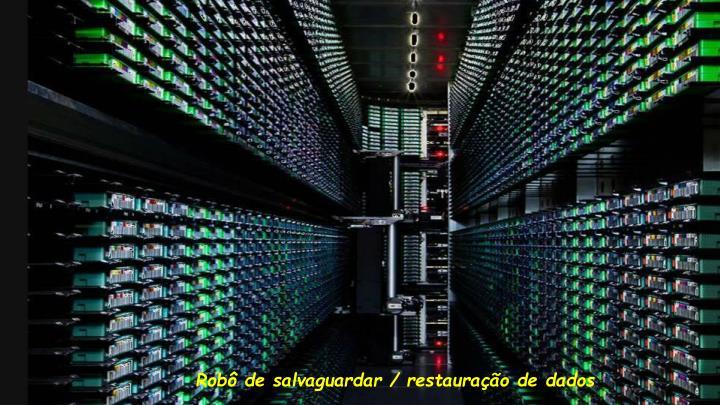 Robô de salvaguardar / restauração de dados