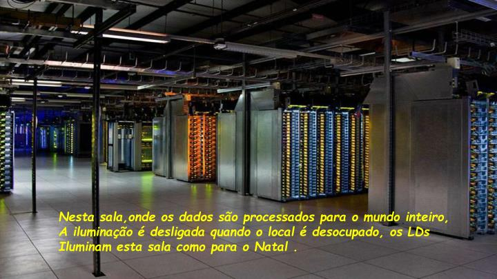 Nesta sala,onde os dados são processados para o mundo inteiro,
