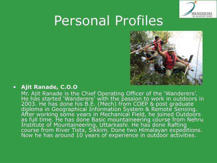 Personal Profiles