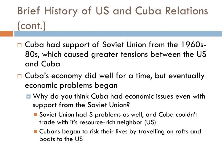 Brief History of US and Cuba