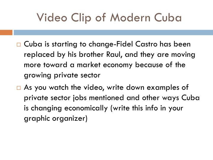 Video Clip of Modern Cuba